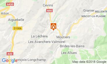 Map Léchère les Bains Apartment 116972