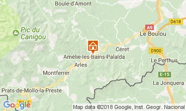 Map Amélie-Les-Bains Studio apartment 79307