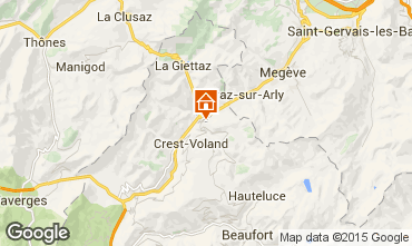 Map Flumet Val d'Arly Apartment 80441