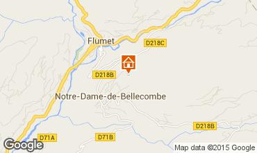 Map Flumet Val d'Arly Apartment 80441