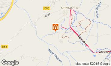 Map La Plagne Chalet 81374