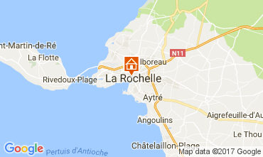 Map La Rochelle Studio apartment 86329