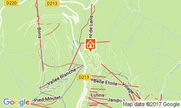 Map Les 2 Alpes Studio apartment 100442