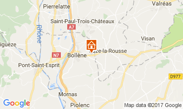 Map Bollène House 101053
