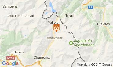 Map Argentière Apartment 109896