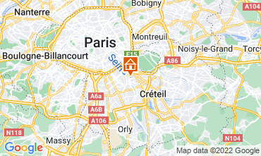 Map PARIS Apartment 13776