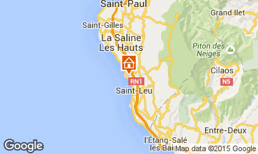Map Saint Leu Studio apartment 9988