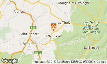Map Gérardmer Self-catering property 89894
