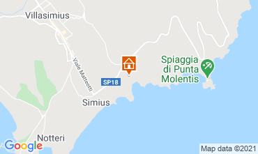 Map Villasimius Villa 108476