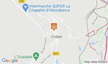 Map Châtel Chalet 40517