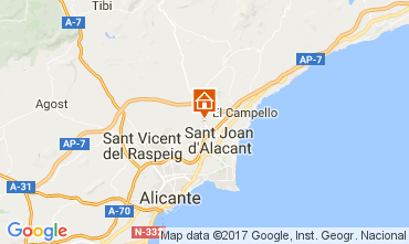 Map Alicante Villa 112666
