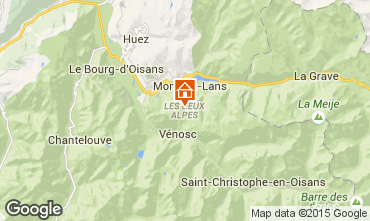 Map Les 2 Alpes Studio apartment 91147