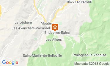 Map Brides Les Bains One-room studio flat 51116