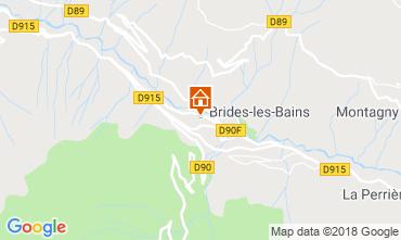 Map Brides Les Bains Studio apartment 51116