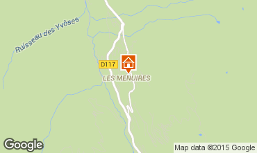 Map Les Menuires Apartment 1631
