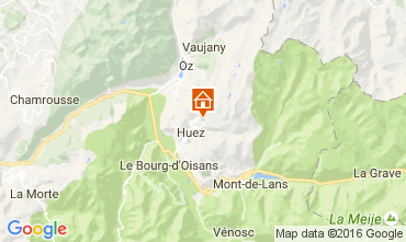Map Alpe d'Huez Studio apartment 15933