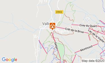 Map Valloire Apartment 3374