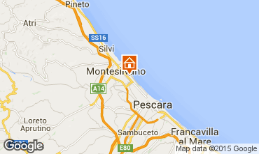Map Montesilvano Marina Studio apartment 78015