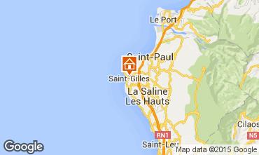 Map Saint Gilles Studio apartment 74488