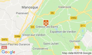 Map Gréoux Les Bains Villa 117404