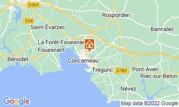 Map Concarneau Studio apartment 8823