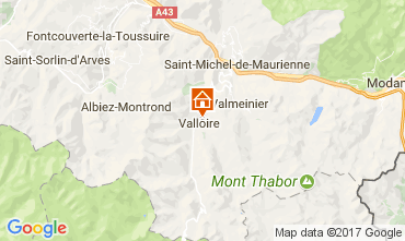 Map Valloire Apartment 80541