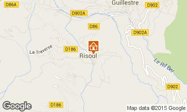 Map Risoul 1850 Apartment 17386