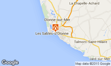Map Les  Sables d'Olonne Apartment 59909