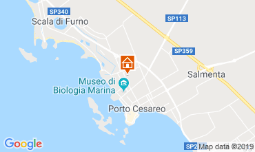 Map Porto Cesareo Apartment 112943