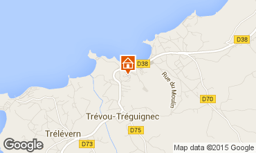 Map Perros-Guirec Apartment 100419
