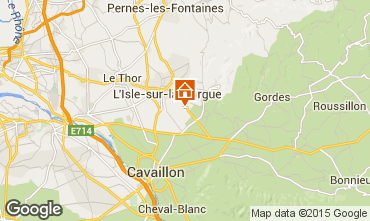 Map Isle sur la Sorgue Self-catering property 61578