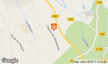 Map Isle sur la Sorgue Self-catering property 61578