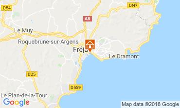 Map Fréjus Studio apartment 110777