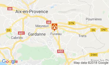 Map Aix en Provence Villa 117062