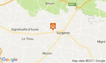 Map La Rochelle Self-catering property 108201