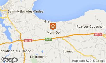Map Dol-de-Bretagne Self-catering property 93043