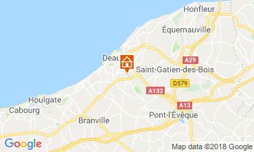 Map Deauville Mobile home 117426