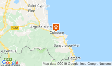 Map Collioure Apartment 118443