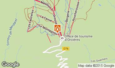 Map Orcières Merlette Apartment 29009