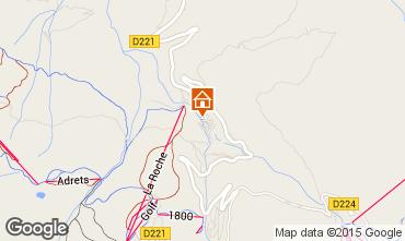 Map La Plagne Chalet 2163