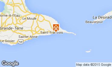 Map Saint Francois Studio apartment 8975