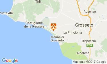 Map Castiglione della Pescaia Studio apartment 77384