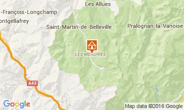 Map Les Menuires Studio apartment 39459