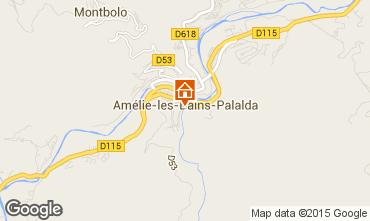 Map Amélie-Les-Bains Studio apartment 80375