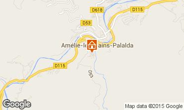 Map Amélie-Les-Bains Studio apartment 74418