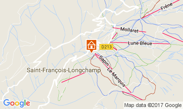 Map Saint François Longchamp Chalet 107261