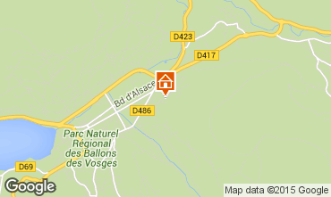 Map Gérardmer Apartment 72177