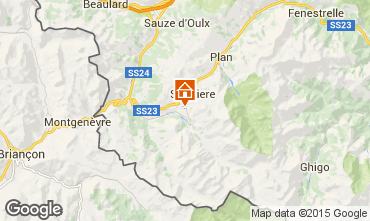 Map Sestriere Studio apartment 59497