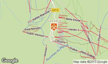 Map Les 2 Alpes Apartment 58366