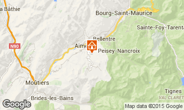 Map Les Arcs Self-catering property 100022